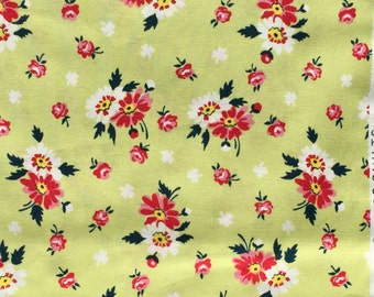 SALE : Sweet Ruby DS Quilts Denyse Schmidt floral pale green FQ or more