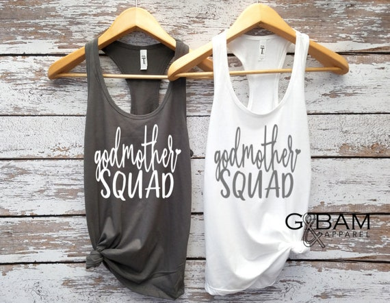 God Mother Squad Tank top / will you be my godmother / Godmother gift / Godmother shirt / Godmother Tank