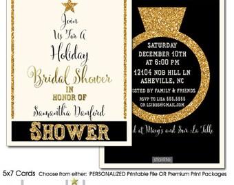 Holiday Bridal Shower Invitation, Christmas Bridal Shower Invitations Printed, Christmas Bridal Shower Invite, Bridal Invite Printable