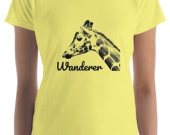 Women's Giraffe Short Sleeve T-Shirt