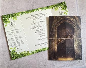 Secret Garden   Woodland   Twine   Gatefold   Wedding Invitations