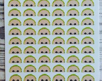 72 Kawaii Taco Planner Stickers