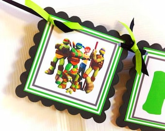 TMNT Happy Birthday Banner