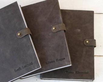 The Riveter Leather Journal w/Brass Rivet Closure