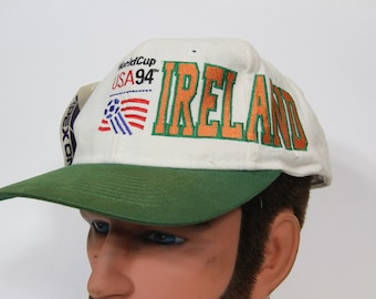 Vintage 1994 World Cup Hat with tags // USA Ireland // Baseball Cap // Soccer // Snap back
