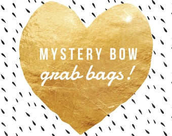 Mystery Bow Grab Bag- Surprise Bows- 4 Hair Bows- Destash Sale- Hair Bow Sale- Baby-Toddler-Girls