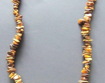 Estate Jewelry Necklace Brown Tiger Eye