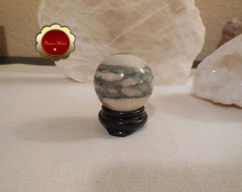40 mm Jasper Flamingo Sphere, Jasper Flamingo Sphere, Balance Yin & Yang, Shields One from Negativity, Crystal Healing