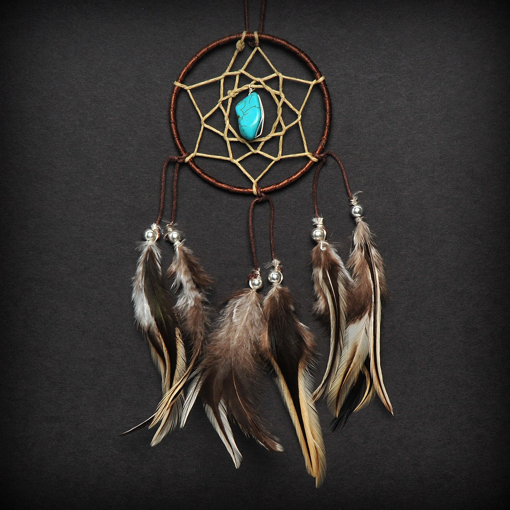 Purchase Dream Catchers Brown Turquoise Stone Car Mirror Dream Catcher Boho Car 35