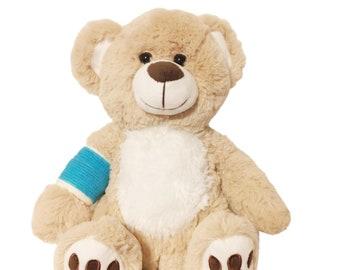 Blue Cast Broken Arm Higgy Bear