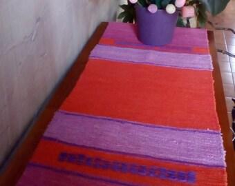 Bohemian Style Table Runner Handwoven Cotton
