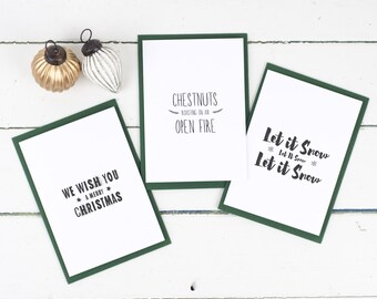 Christmas cards 6 pack inspired by classic uk christmas songs christmas card pack festive song lyrics christmas card christmas songs card festive songs m4hsunfo