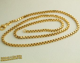 Massive execution: square necklace VENETIANS, GelbGold; GoldSchmuck - new!