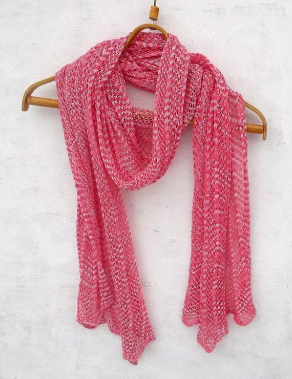 Schal stricken Baumwolle Schal gestrickter Lace-Tuch Schal