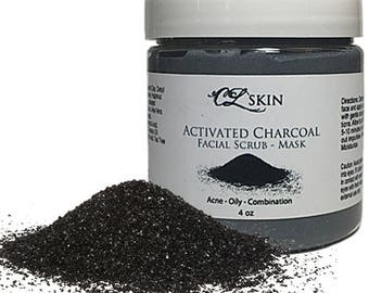 Activated Charcoal Facial Mask & Scrub