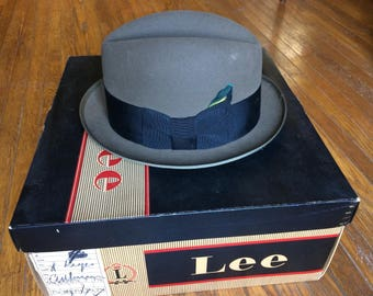 Gray Lee Fedora Hat   Free US Ship