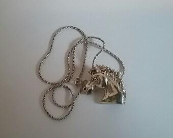 Silver Horse Head Necklace