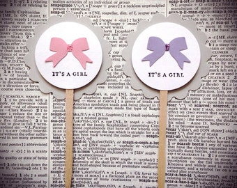 Its A Girl, Baby shower cupcake toppers