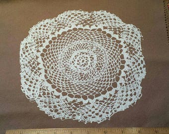 Lace Doily Screen Printed Patch