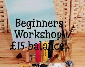 Workshop, beginners, painting, acrylic, fine art, canvas, acrylic painting