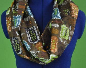 Craft Beer Flannel Infinity Cowl