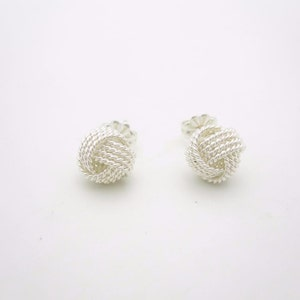 Tiffany & Co. Sterling Silver Twist Knot Stud Earrings