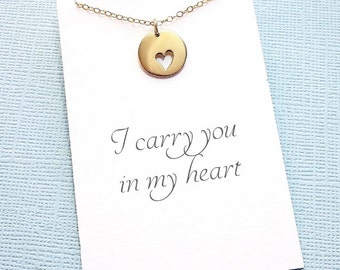 Miscarriage Necklace | Heart Necklace, Bereavement Gift, Condolence Gift, Infant Loss, Sympathy Gift, Miscarriage Gift, Miscarry Gift | R01