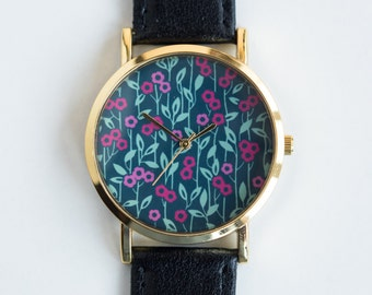 Women's Watch - Wrist Watch - Ladies Watch - Night Wildflowers