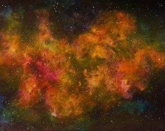 Space Art Nebula Original Painting