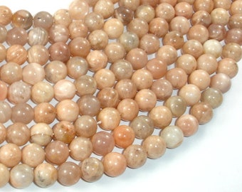 Sunstone Beads, 8mm Round Beads , 15 Inch, Full strand, Approx 49 beads, Hole 1 mm (418054011)
