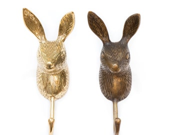 Brass Hook Rabbit - Animal hook - Wall Hook
