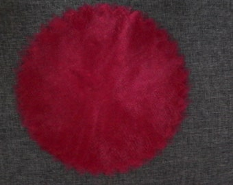 set of 50 round Burgundy tulle for dragees