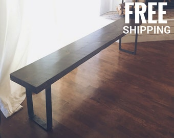 Reclaimed Wood Bench |  Wooden Bench, Wood Bench | Dining Bench, Entry Bench | Free shipping