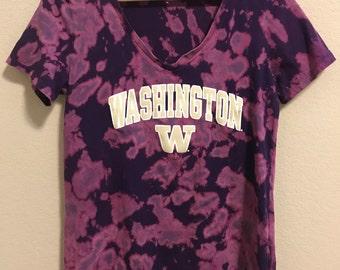Tie Dye University of Washington Vneck Shirt