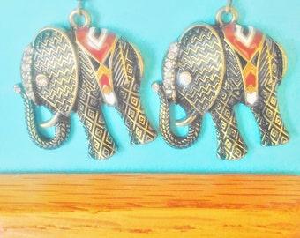 ELEPHANT EARRINGS,Elephant Earring,Bohemian Elephant Earrings,Steampunk Elephant,Boho Earrings,Boho Elephant,Elephant Charm,DiDiGifts