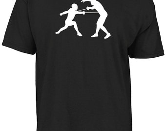 Fencing silhouette t-shirt