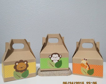 Safari Gable Favor/Treat Boxes