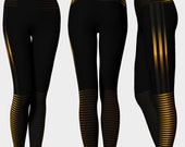 Gold and Black Yoga Pants...