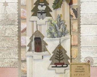 Three Woodland Ornaments pattern by Buttermilk Basin - Wool Applique!