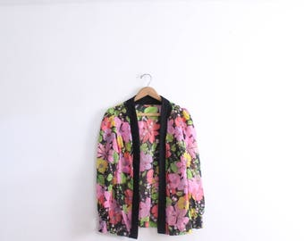 Dreamy Flower 60s Chiffon Jacket