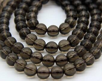 Natural Smoky Quartz Beads 4 6 8 10 12mm A Quality Smoky Beads Brown Gemstone Beads Smoky Quartz Mala Beads Smoky Crystal Mala Beads
