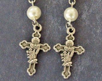 First Communion Earrings *Eucharist,Holy Sacrament,Catholic,Christian jewelry,Communion chalice,religious jewelry,for her,Catholic women