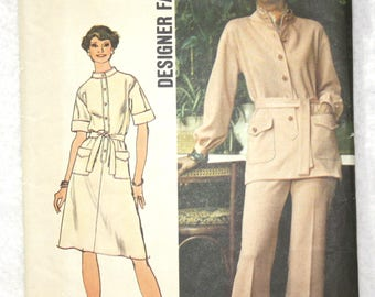 """Size 14 bust 36""""  Simplicity  Sewing Pattern 6503 Dress or Tunic and Pants - Designer Fashion"""
