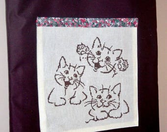 Chatonsmalicieux embroidered tote bag