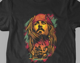 New Pirates Of The Caribbean Jack Sparrow Inspired Art Youth Kids Shirt and Toddler Shirt Sizes