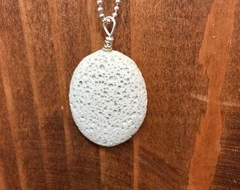 Sand LAVA STONE, lava rock pendant, diffuser pendant, lava rock diffuser, lava bead pendant, pendant for necklace, lava pendant, oval lava