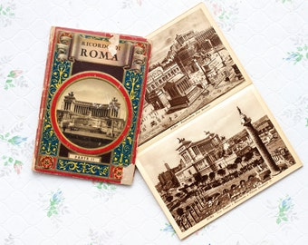 Rome Postcard Size Photos Booklet - Ricordo Di Roma - Charming Antique Paper Ephemera