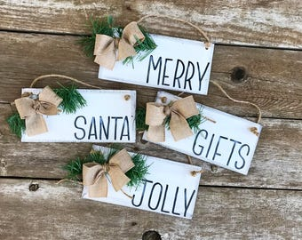 Farmhouse Christmas Ornaments-Rustic Christmas Ornament-Christmas Ornaments-Christmas Tree Ornamnets-Ornaments-Farmhouse Christmas- Rustic