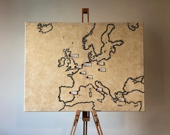 Travellers Map of Europe