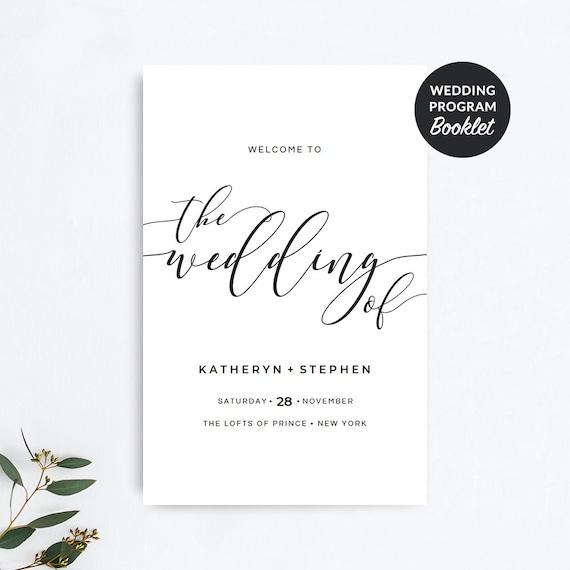 wedding program booklet template
